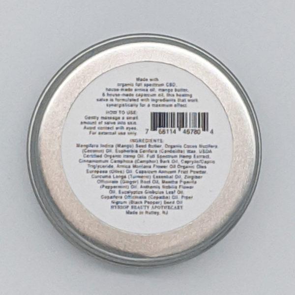 CBD Salve All Natural Ingredients List